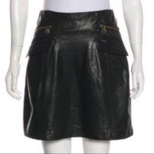 Nanette Lepore leather skirt